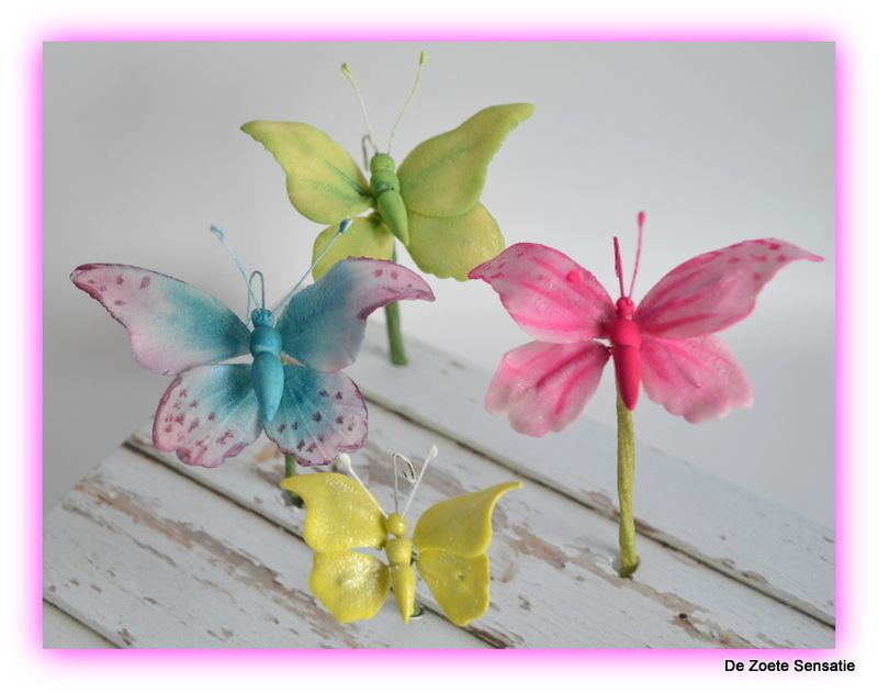 gumpaste butterfly's