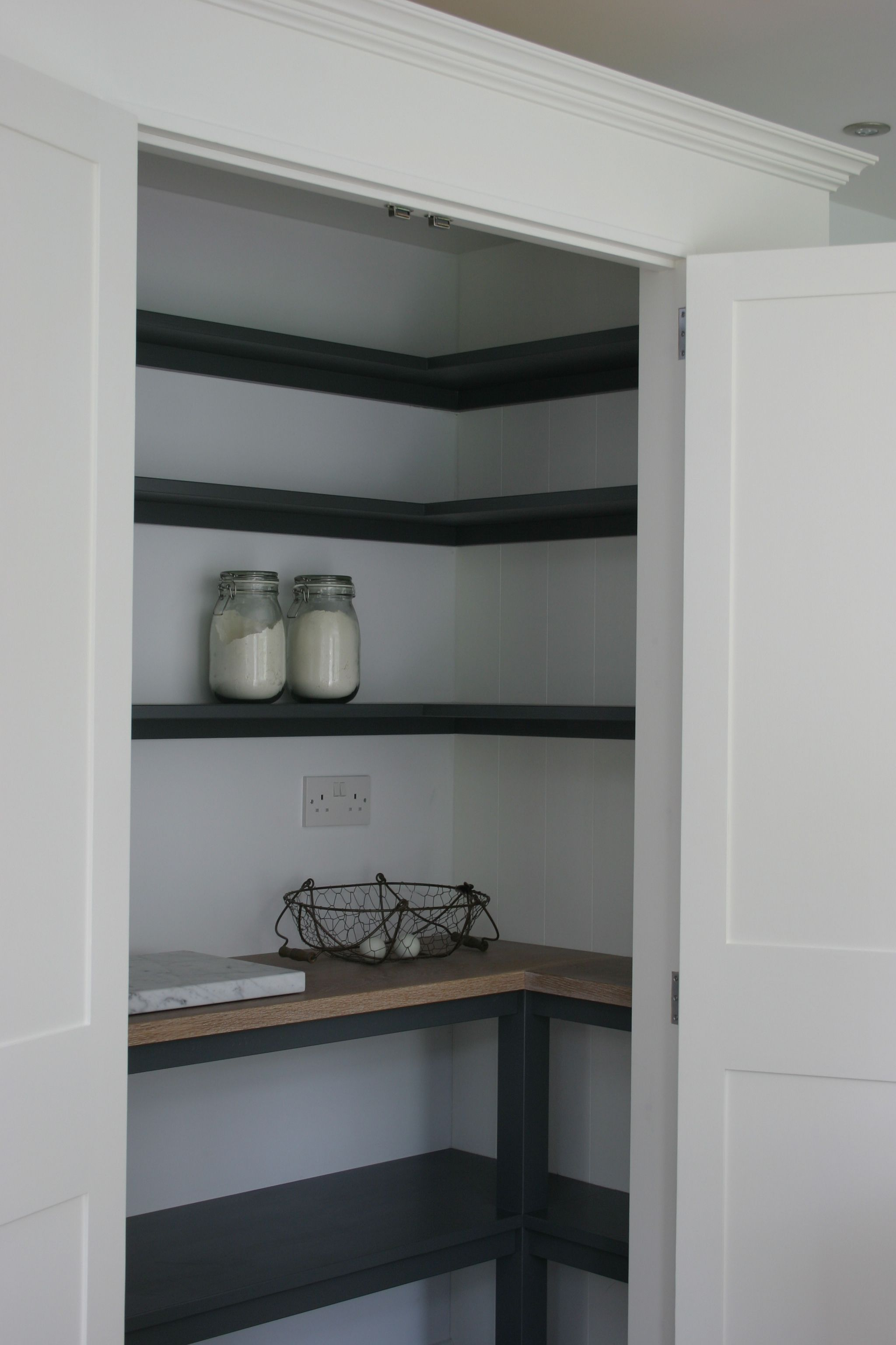 Pantry from one of our latest kitchens near Horsham West Sussex Painted in F  Pantry from one of our latest kitchens near Horsham West Sussex Painted in F