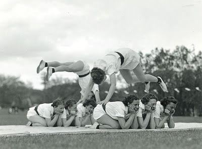 Field-Day tumbling, circa 1940's