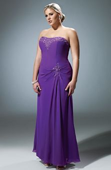 Brides Magazine Bridesmaid Dresses Gallery Purple Strapless Plus Size Wedding