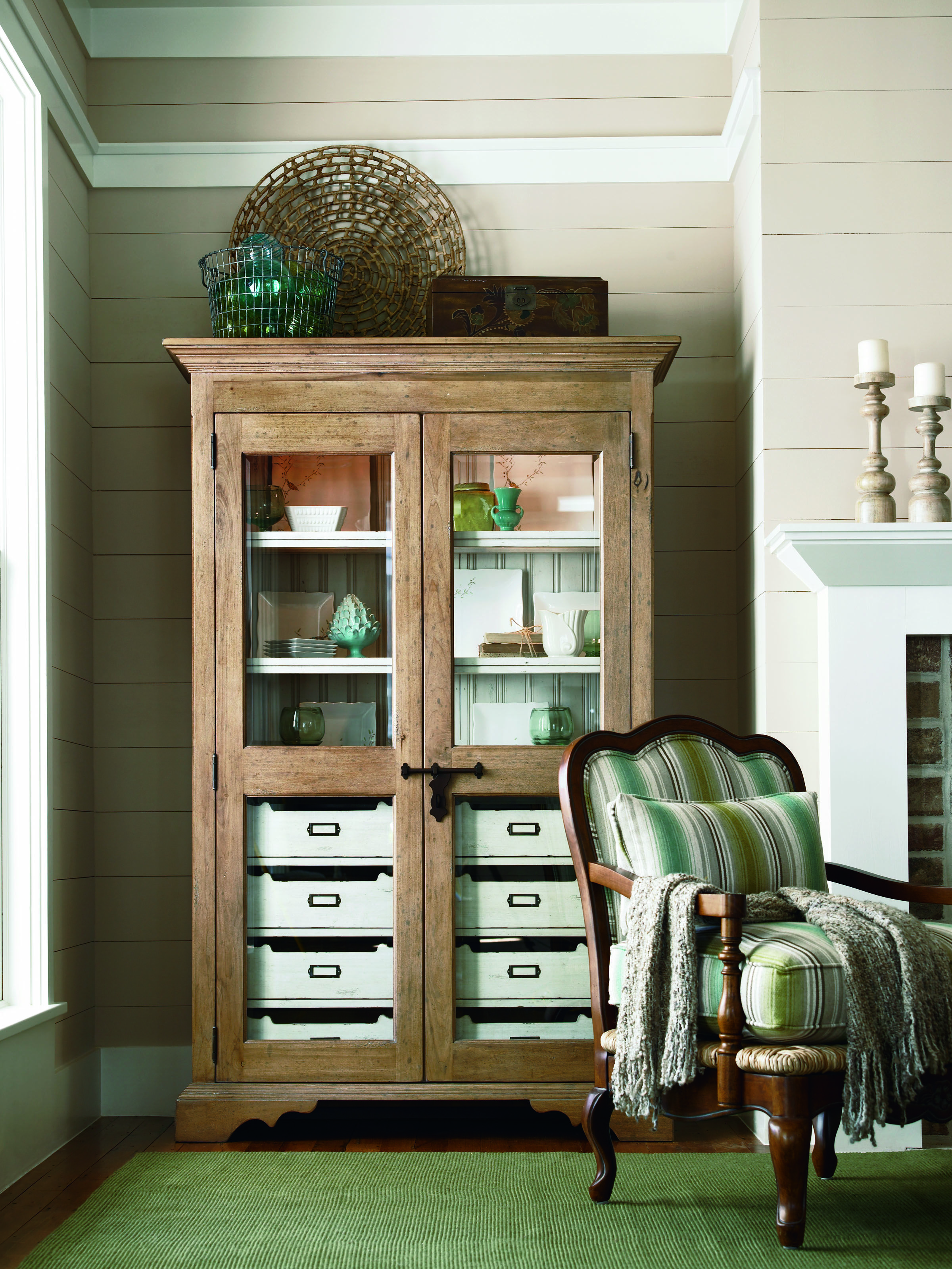 Hallway storage armoire  Paula Deen Dish Pantry by Universal Furniture  Casual Dining Room