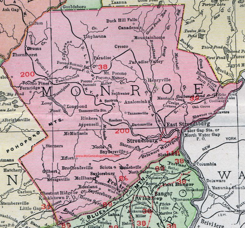 Monroe County, Pennsylvania, 1911, Map, Stroudsburg ... on lackawanna county, carbon county pa map, adams county, bucks county pa map, cumberland county, baldwin township pa map, schuylkill county, allegheny county, lehigh county pa map, burlington county nj map, amity township pa map, berks county, schuylkill river pa map, montgomery county pa map, media pa map, knox county pa map, philadelphia county, franklin county, pa counties map, jefferson county, delaware county street map, fayette county, bucks county, chester county, lancaster county pa map, villanova university pa map, lancaster county, coal county pa map, washington county, central pa county map, west chester, plymouth township pa map, delaware county ohio map, delaware valley, delaware county township map, york county, montgomery county, washington crossing state park pa map,
