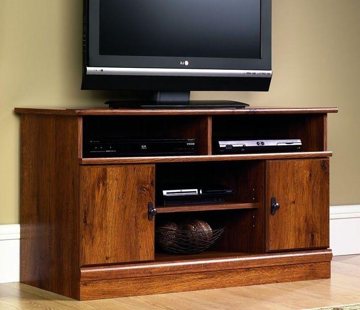 Smart Tv Stand Media Entertainment Cabinet Doors Shelf Storage Oak