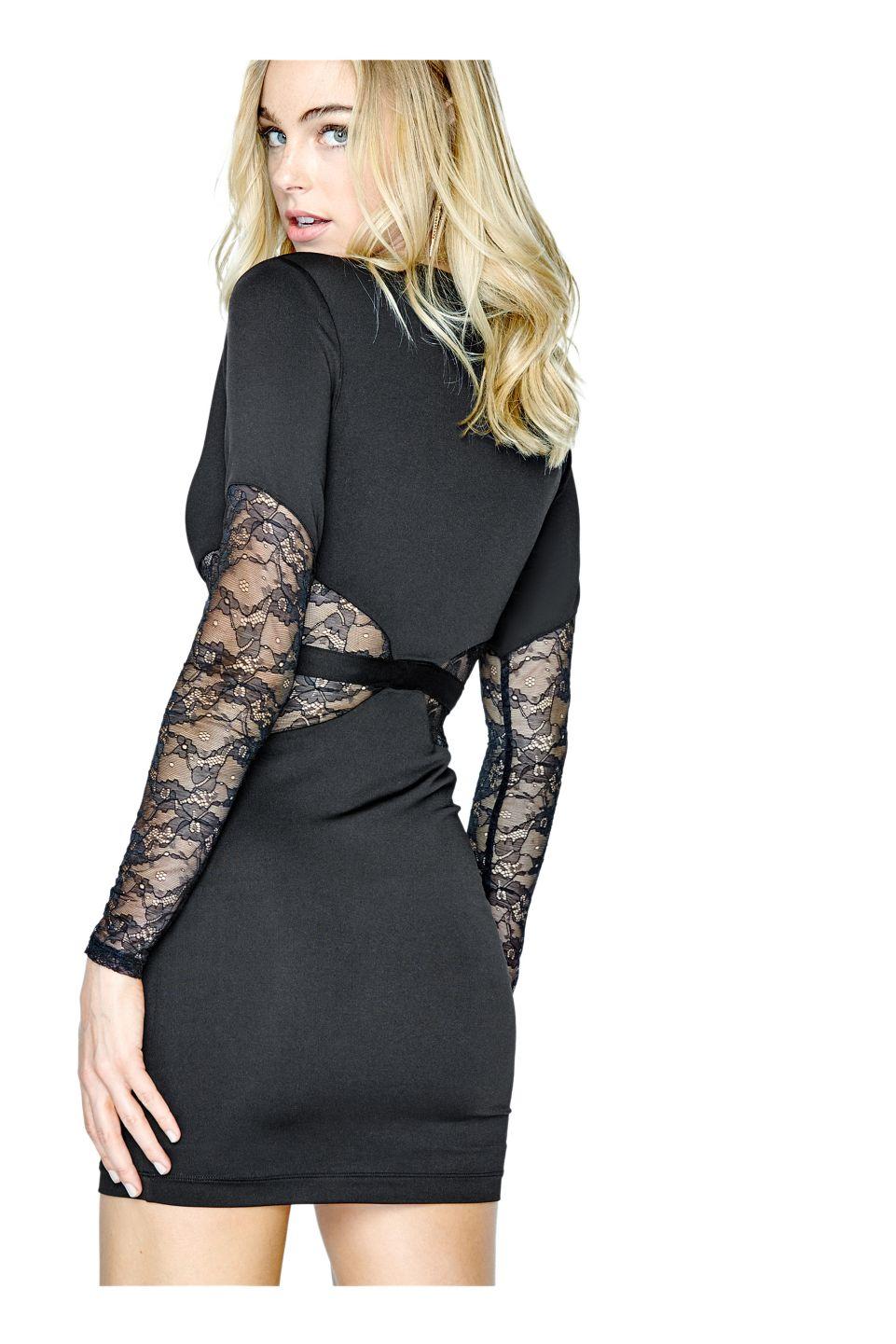 Longsleeve lace cutout dress guess guessholiday fashion