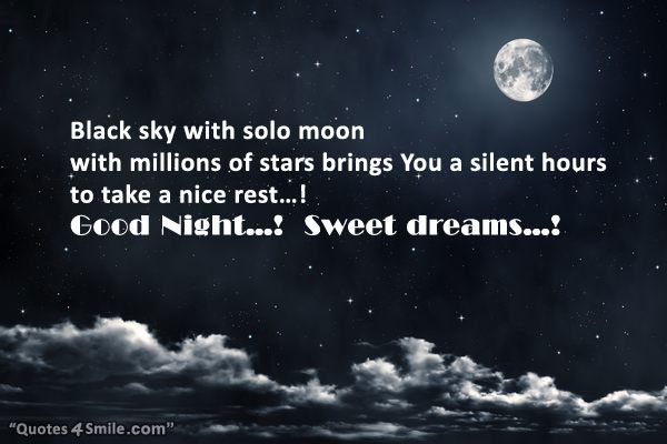 Black Sky With Stars Saying Good Night Light And Dark Quotes Best Quotes Night Quotes