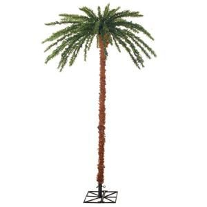 6 Ft Pre Lit Palm Artificial Christmas Tree With Slim Trunk 3240