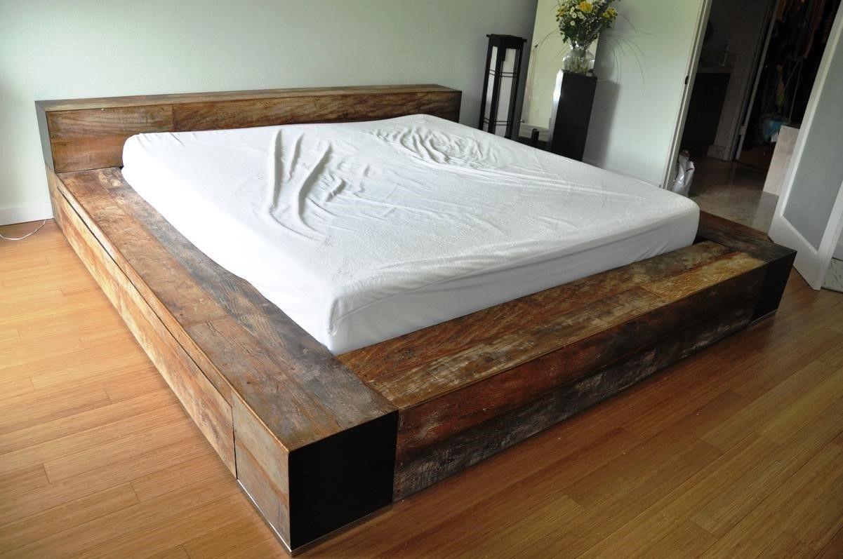 Homemade Wood Platform Bed Platform Bed Designs Wooden
