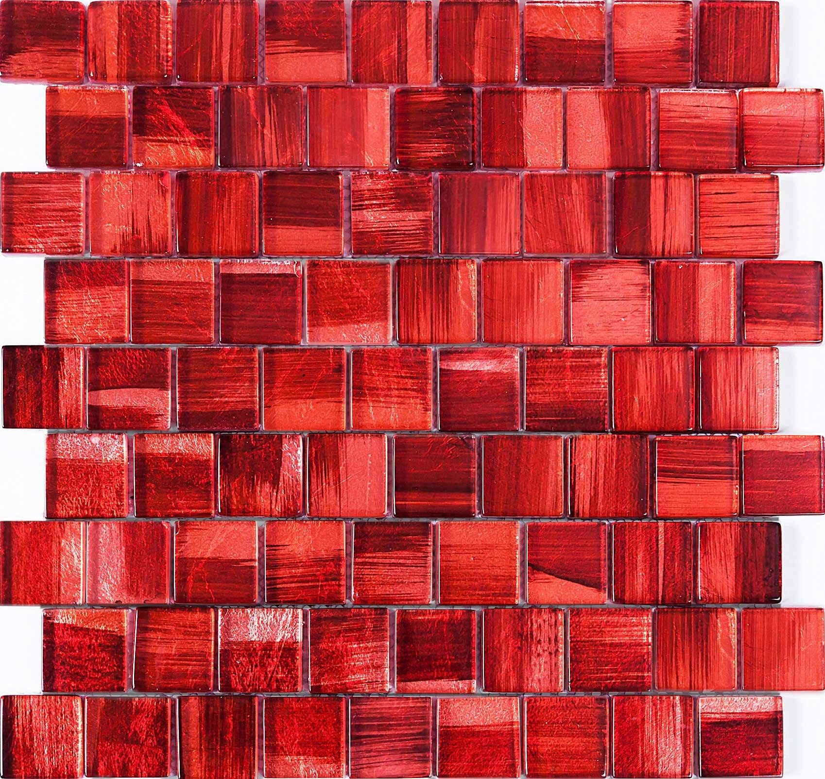 glass tile wall and floor mosaic mv-drio-rose