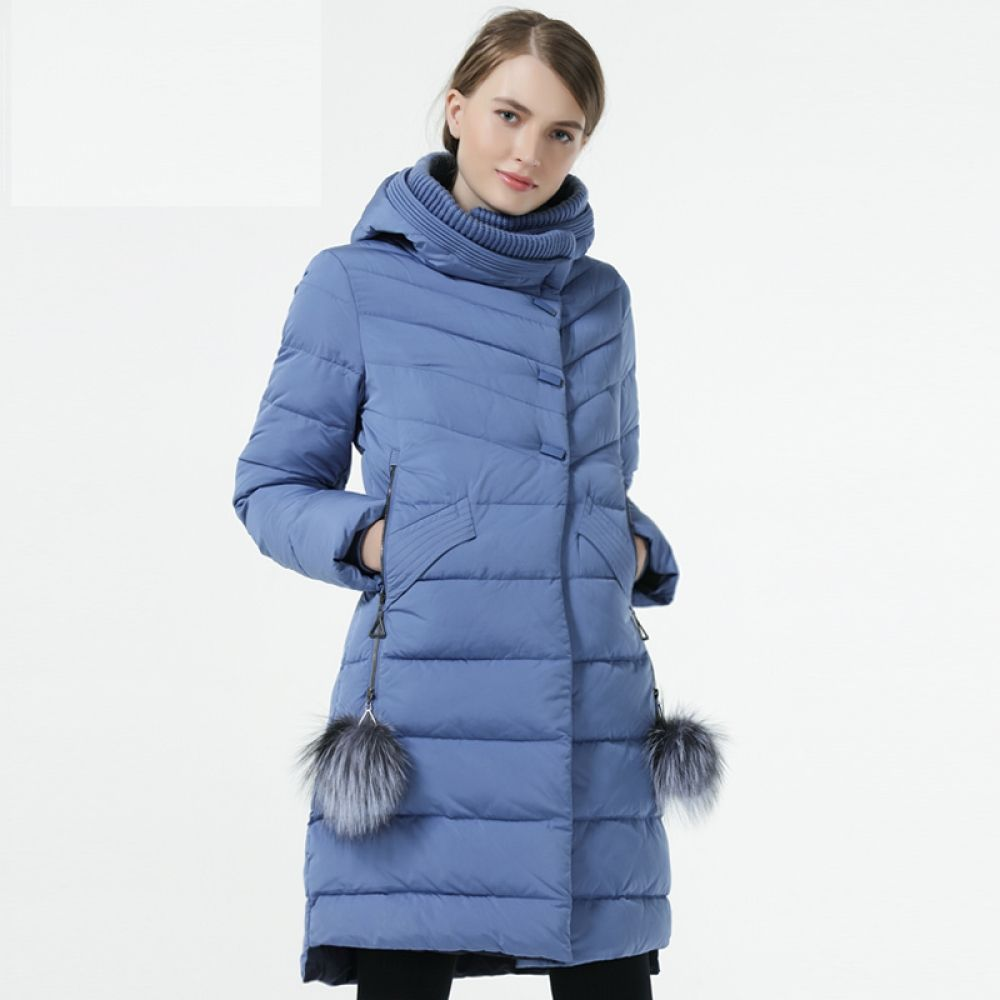 GASMAN 2019 Winter Women Down Jacket Medium Length Female Thick Warm Hooded Down Parka Windproof Ove...