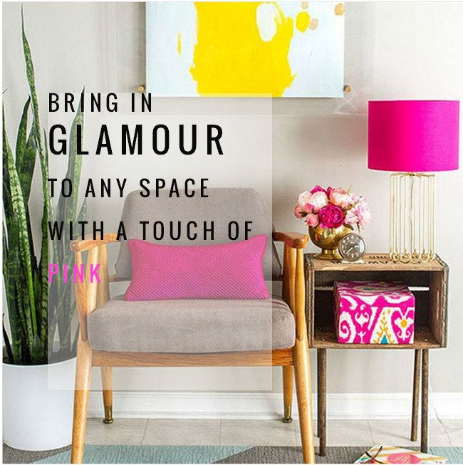 homes with a touch of pink, fuchsia, raspberry color