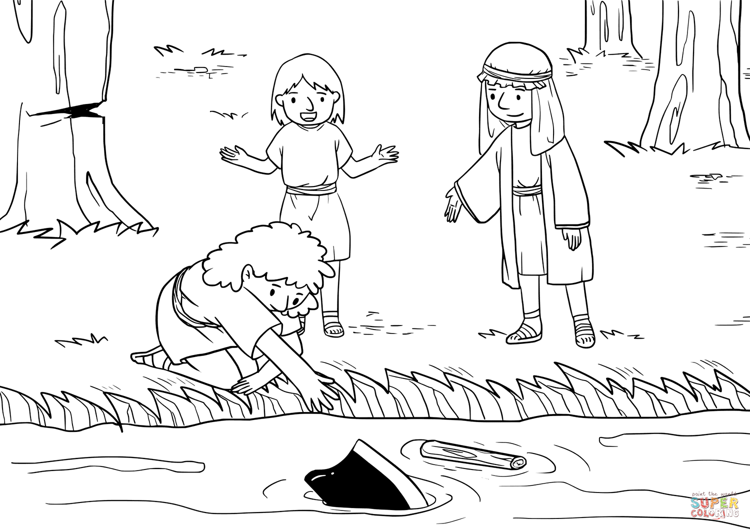 43++ Elisha and the floating axe head coloring page free download