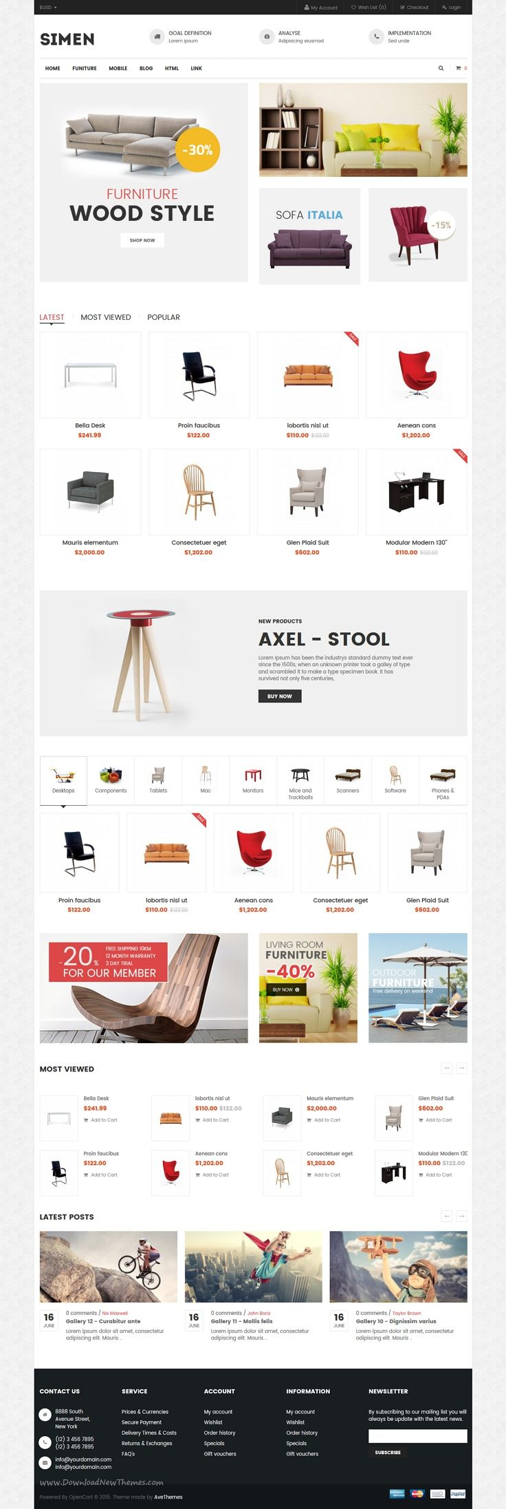 Ave Simen - Multi-purpose Reponsive Opencart Theme