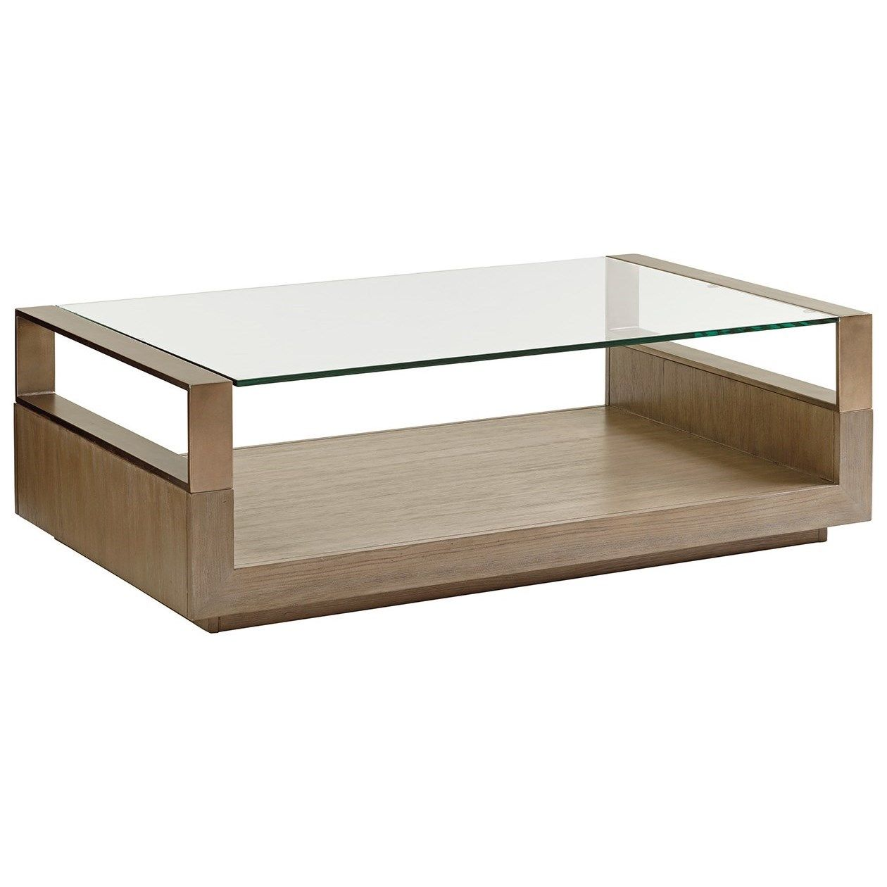 Shadow Play Center Stage Rectangular Cocktail Table by Lexington at Jacksonville Furniture Mart