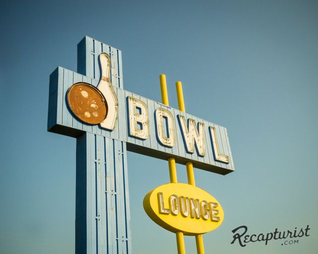 Village Bowl (Aberdeen, SD). Vintage sign photography by Recapturist. Purchase as a print or canvas. Many sizes available. More here: http://www.recapturist.com/portfolio/village-bowl/