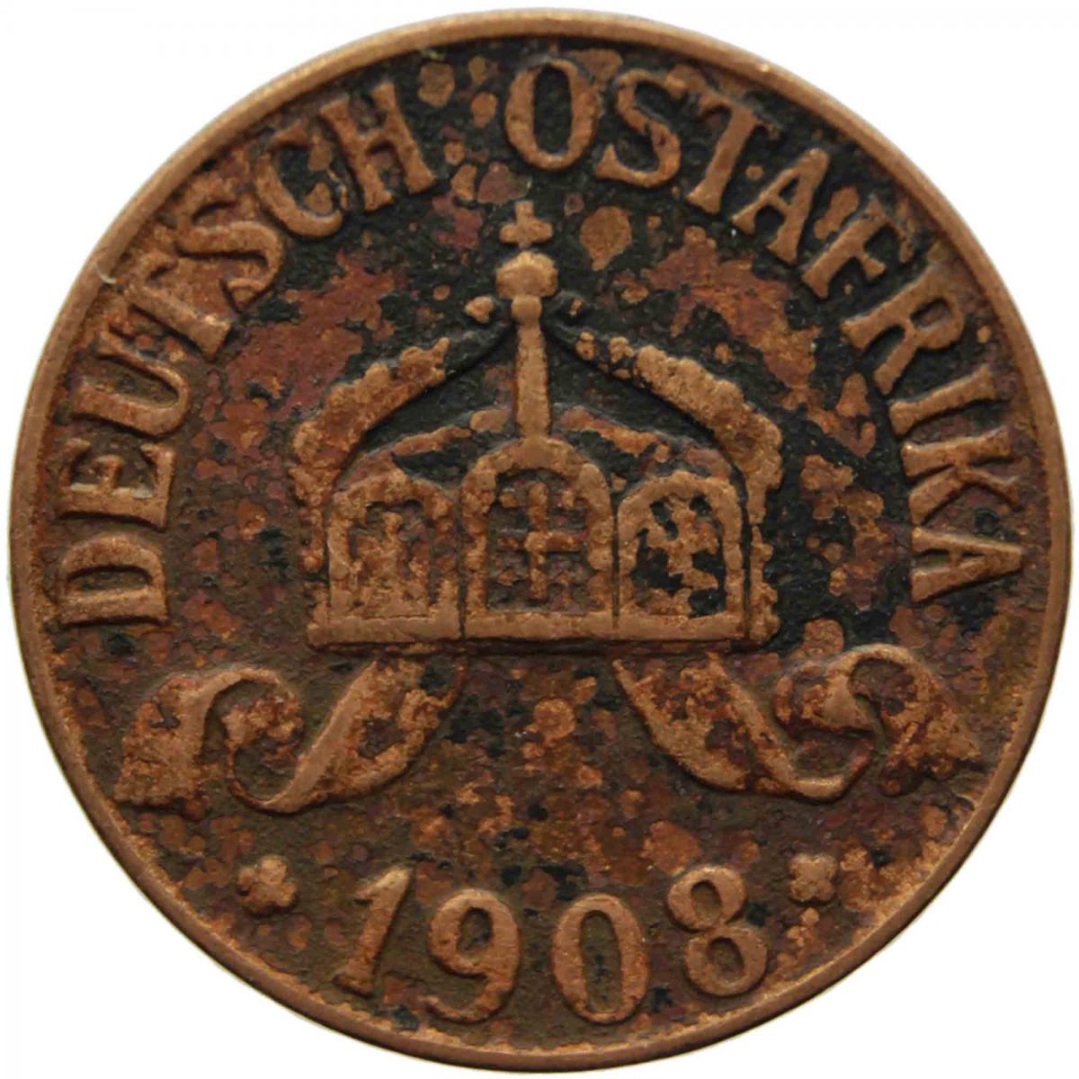 africa ostdeutschland 1908 coin