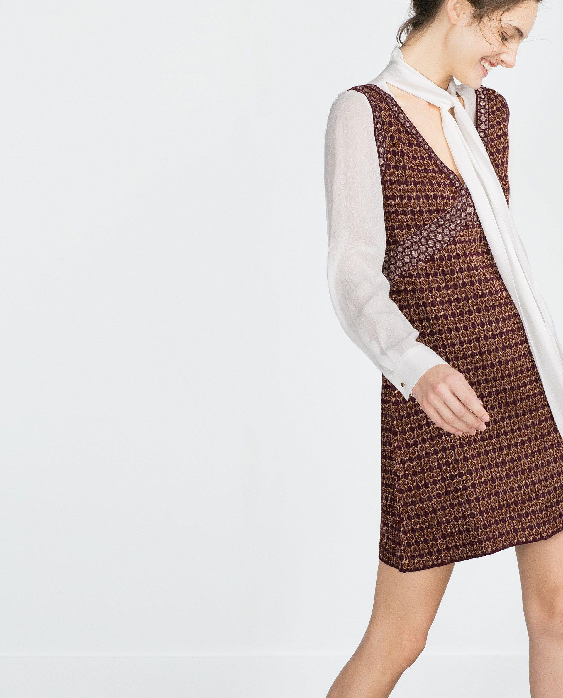 4669d79a MICRO - JACQUARD DRESS - Knitwear - Woman - COLLECTION AW15 | ZARA Serbia