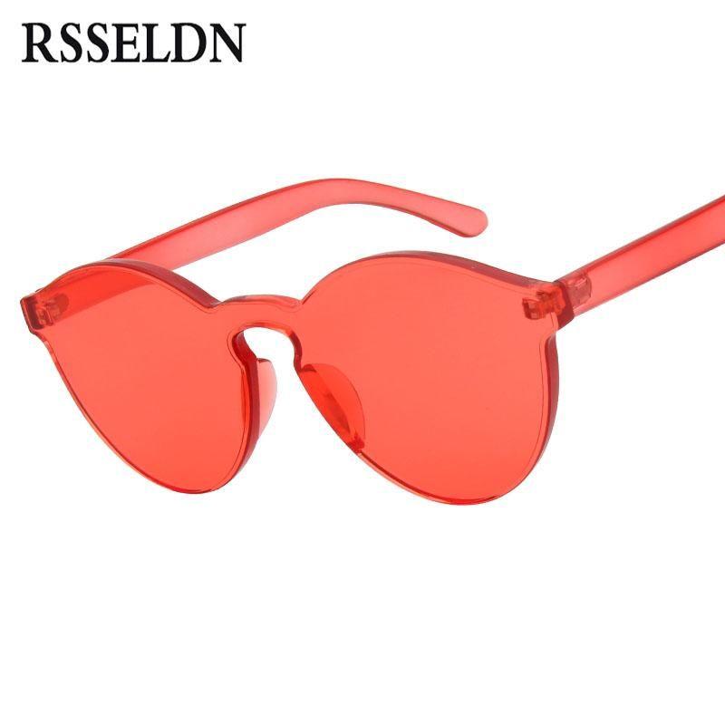 2e2532e9b827 201 New One Piece Lens Sunglasses Women Transparent Plastic Glasses Men  Style Sun Glasses Clear Candy Color Brand Designer