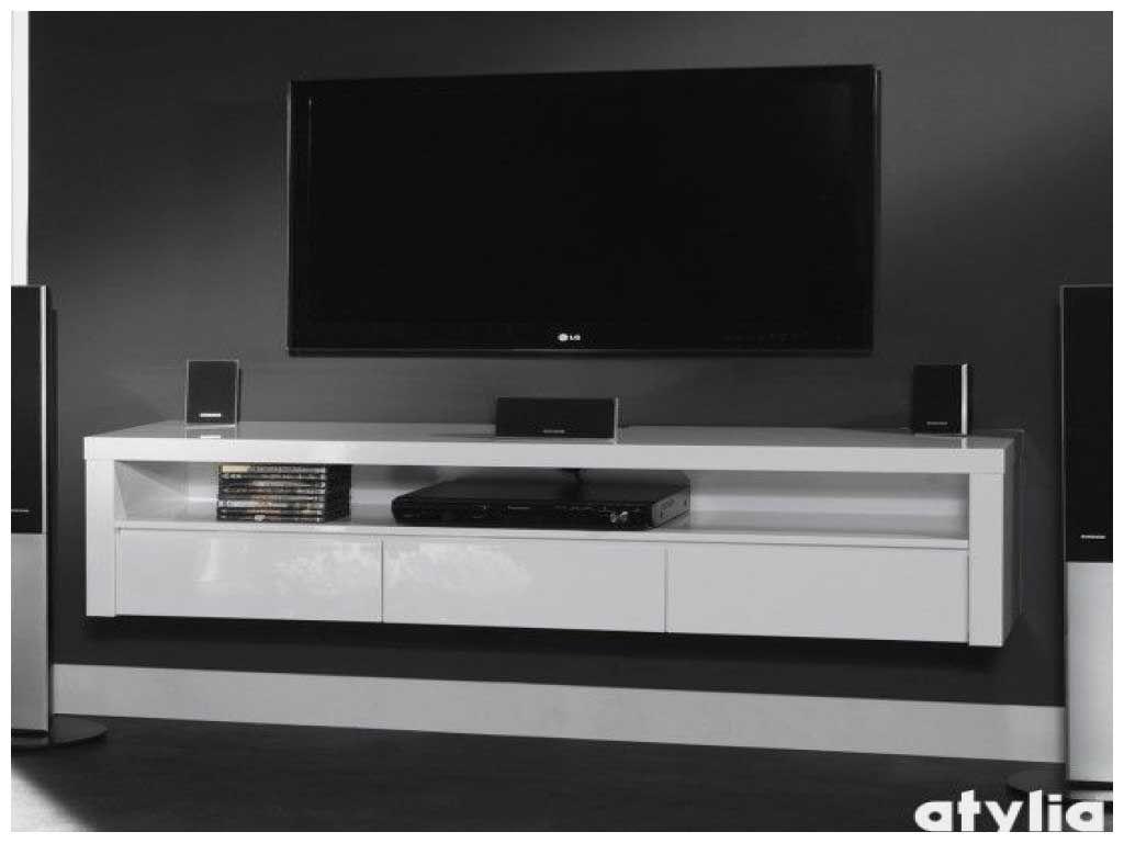 Meuble Tv Suspendu Blanc Brillant Lovely 17 Meilleures Idees A