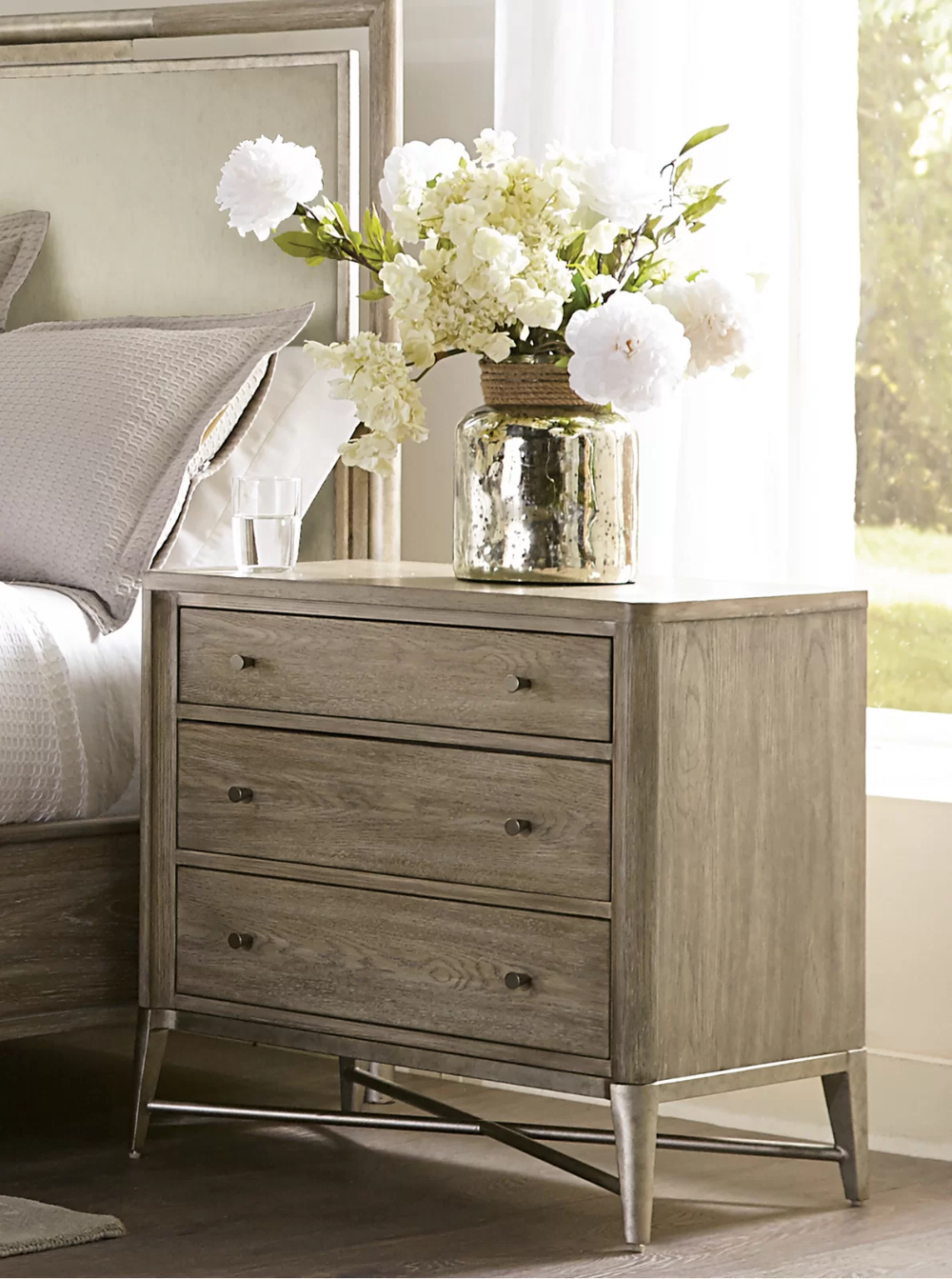 Cheetham 3 Drawer Nightstand In Natural In 2021 Drawer Nightstand 3 Drawer Nightstand Furniture [ 1343 x 1000 Pixel ]