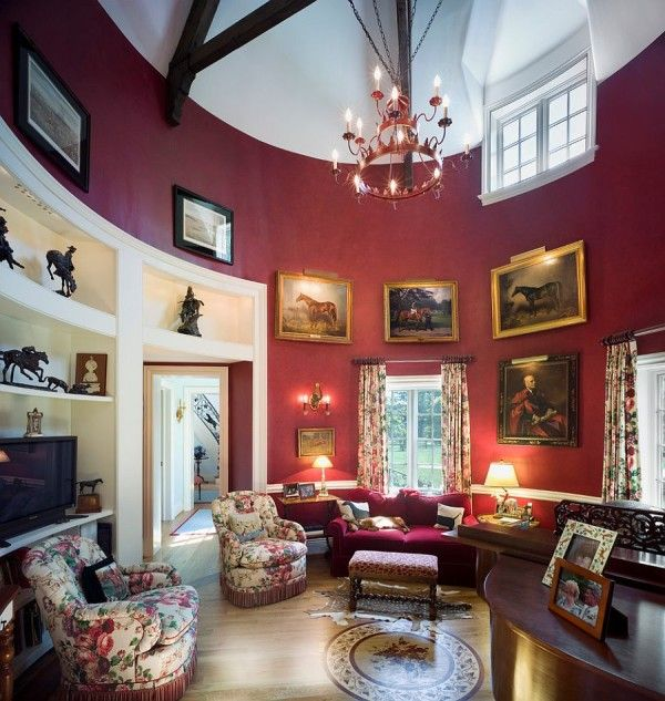 Grand Victorian living room with a splash of purple | Victorian ...