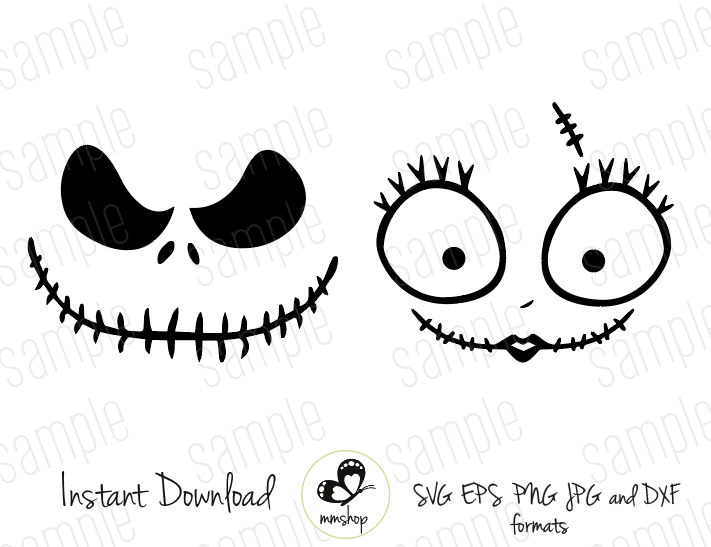 Jack And Sally Instant Download Svg Files Nightmare Before Christmas Ornaments Nightmare Before Christmas Halloween Nightmare Before Christmas Decorations