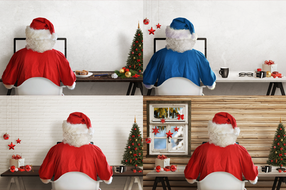 Christmas Santa Claus Workplace 3 by RSplaneta on Creative Market