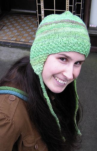 easy earflap hat by spincycleyarns, via Flickr | Knitted ...