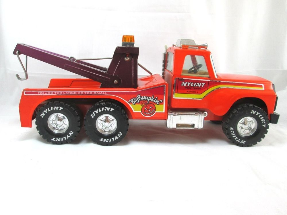 "Vintage Nylint ""Big Pumpkin"" Pressed Metal Tow Truck Hitch"