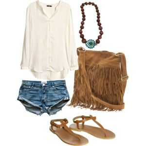 """boho casual"" by irisaller on Polyvore"