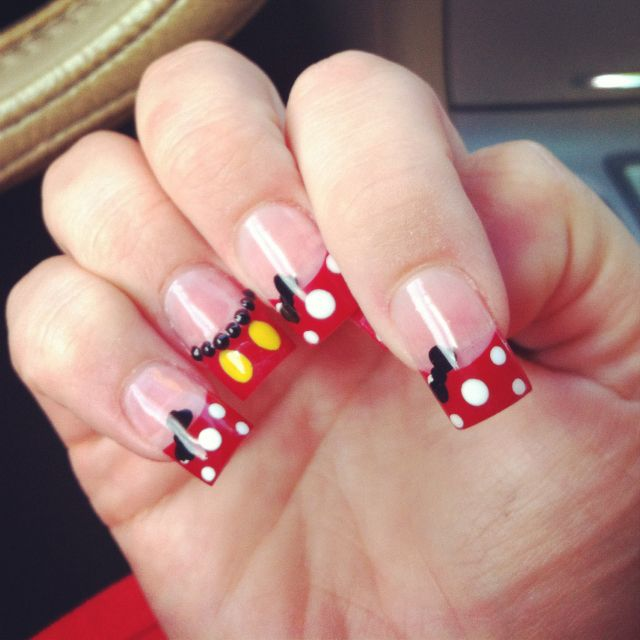 Mickey and Minnie | Uñas | Pinterest | Uñas acrílico, Arte de uñas y ...