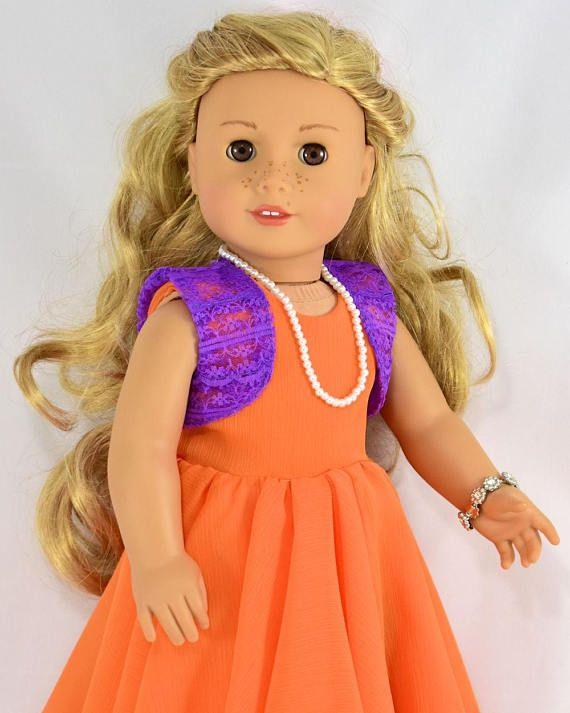 Beautiful Bolero 18 inch doll clothes pattern, American girl doll ...