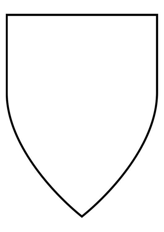 Coloriage Fanion Chevalier.Coloriage Bouclier Medieval Bouclier Chevalier Bouclier Et