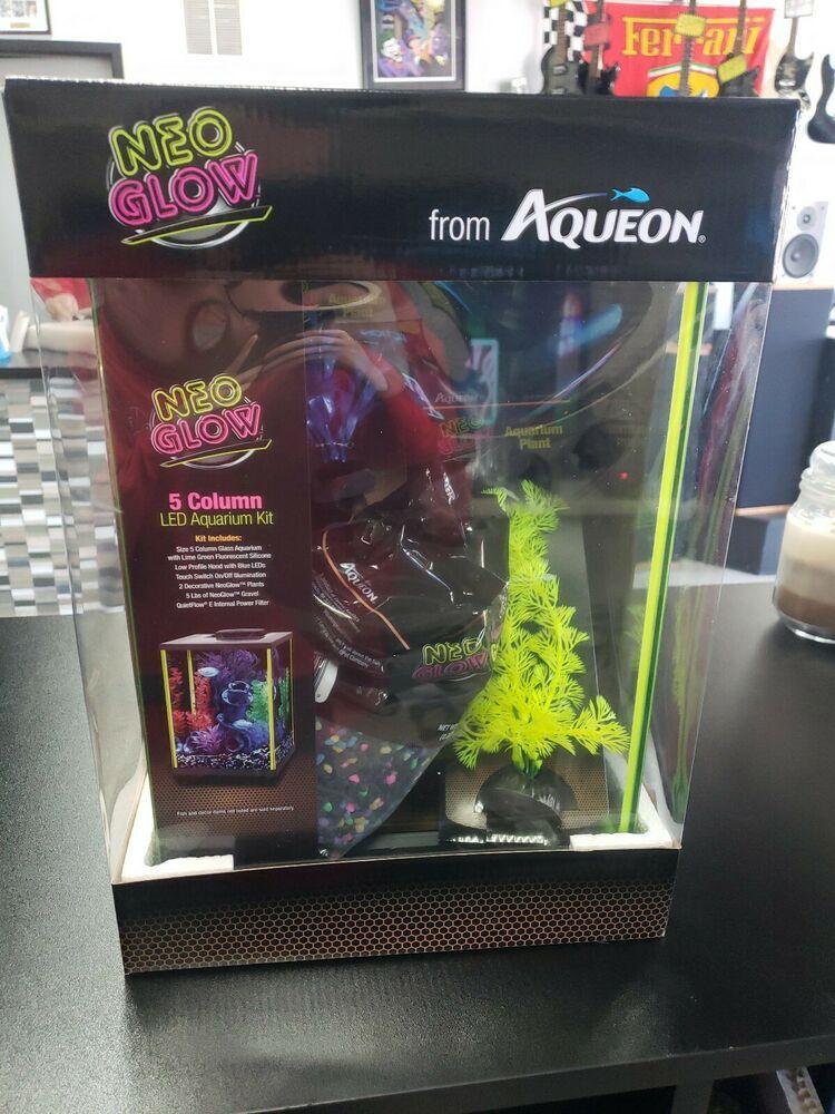 Aqueon neoglow aquarium kit column aquarium kit