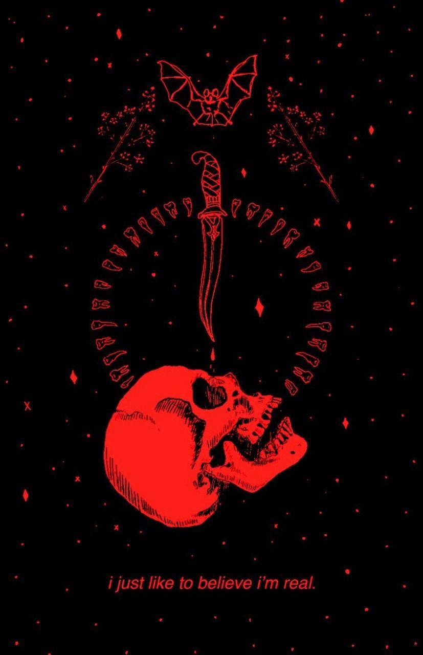 Artist Musterni Illustrates Red Aesthetic Dark Aesthetic Black Aesthetic Wallpaper