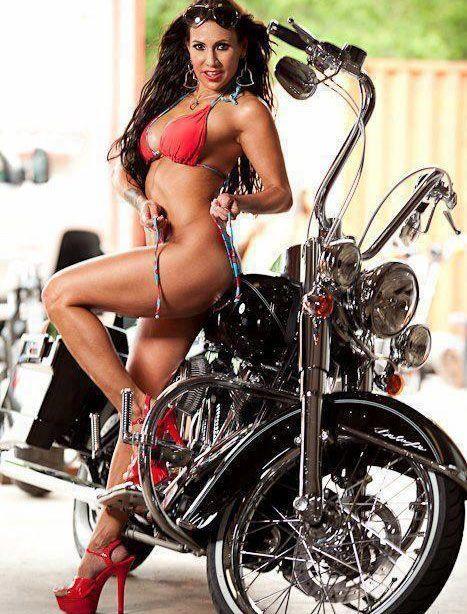 Bikini girls on motorcycles