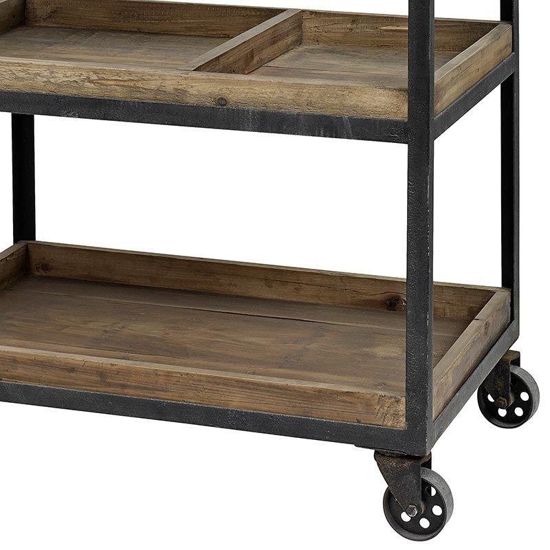 Tisch Trolley Ale Eisen Und Holz Von Nordal Regal Industriedesign Servierwagen Servierwagen Holz