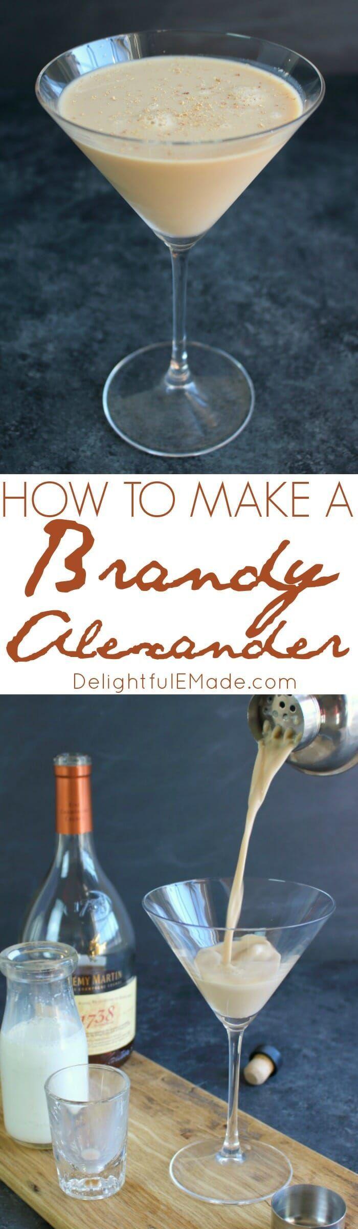 How to Make a Brandy Alexander - Delightful E Made