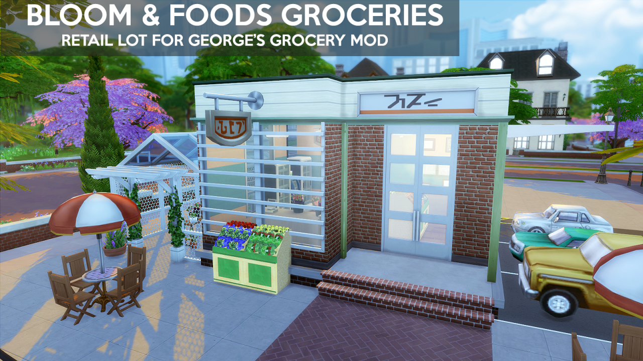Sims4 deli amp grocery store ruby s home design -  Apple Store Lot Cc Kevinsims Electronics Store Pinterest Salem S Lot Posts And Apples