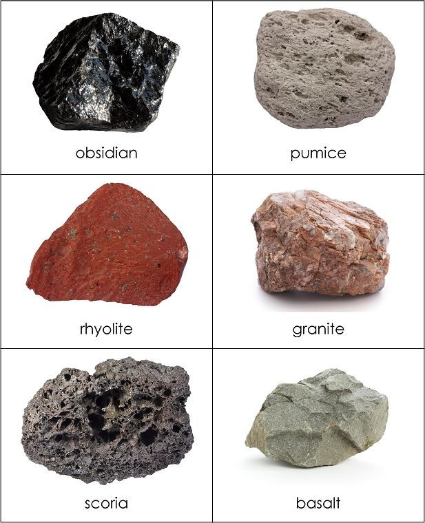 Types Of Rocks Sorting Cards From Montessori For Everyone Earth