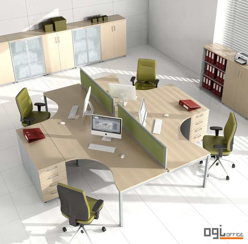 Open Concept Office, Office Design, Layout