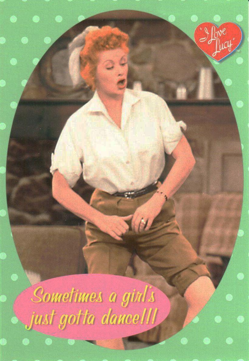 I Love Lucy Dances the Jig Postcard   LucyStore.com
