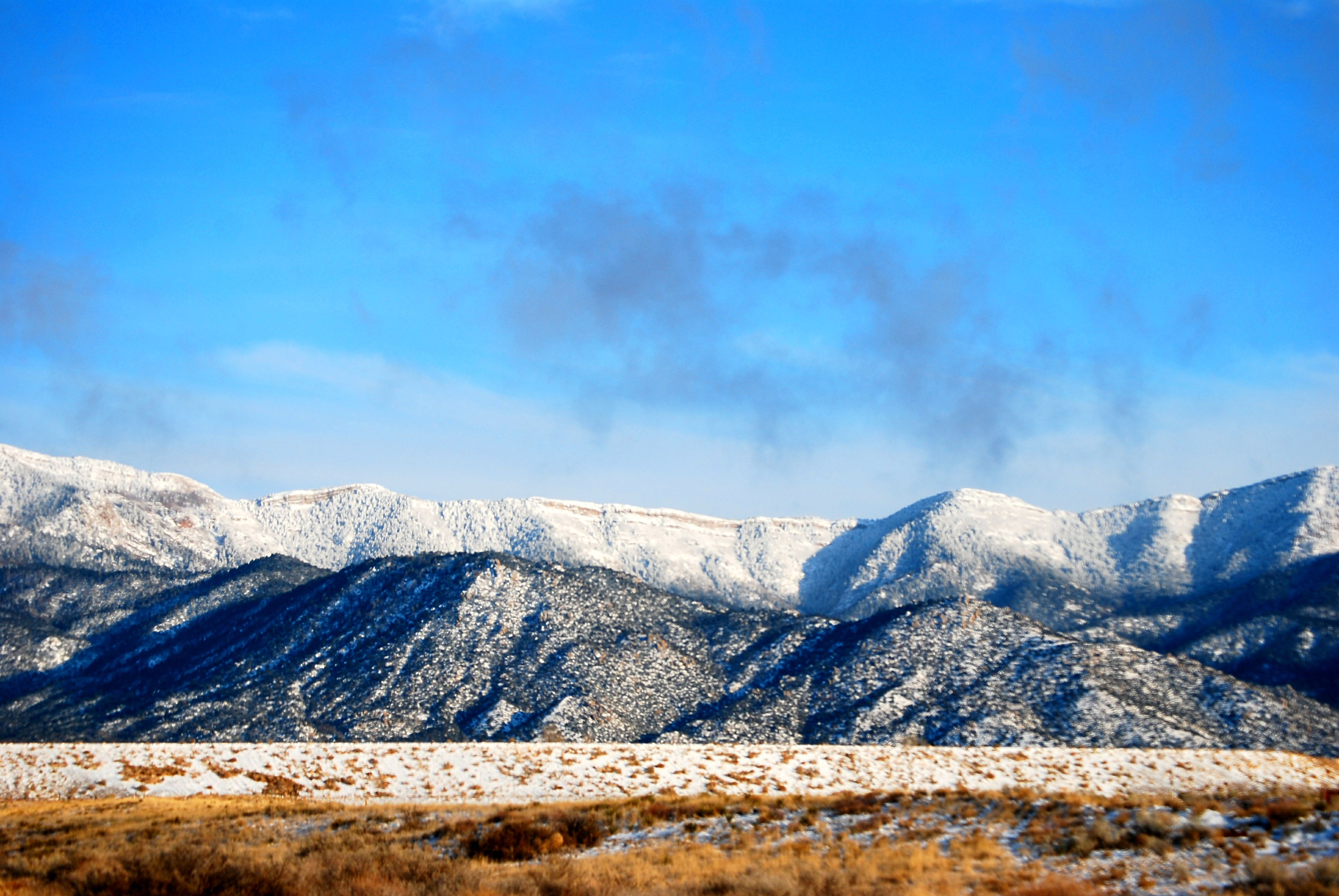 Sandia Mountains In New Mexico Right After A Snow And The
