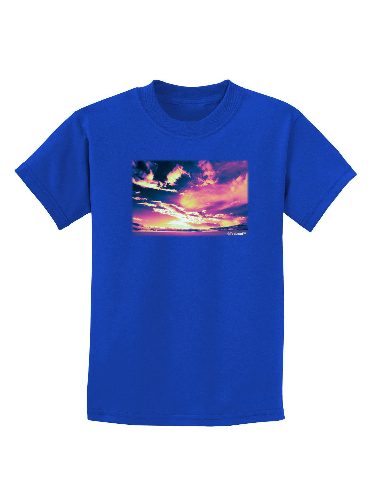 TooLoud Blue Mesa Reservoir Surreal Childrens Dark T-Shirt