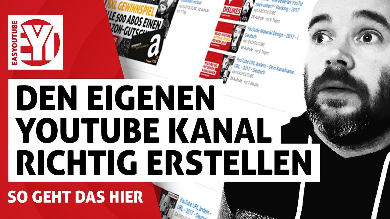 Youtube Kanal Einrichten