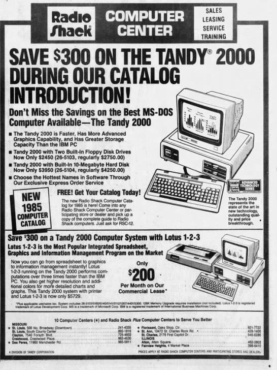 Radio Shack Computers 1984 In 2020 Computers For Sale Radio Tv On The Radio