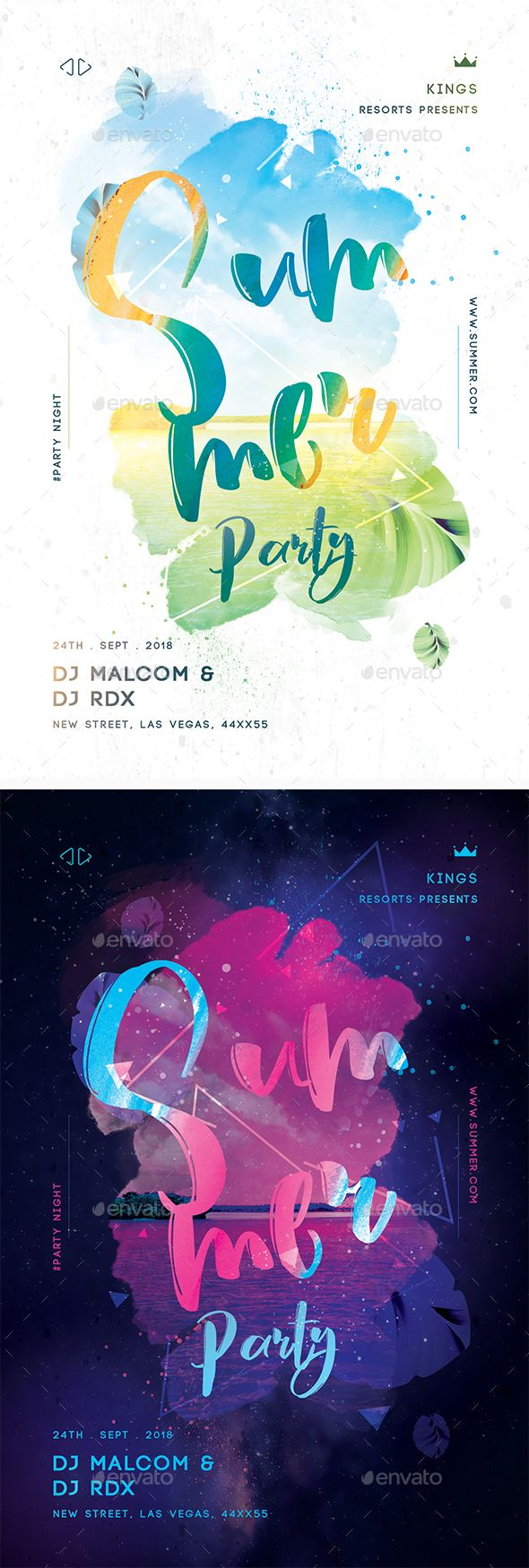 summer party creative flyer template psd summer party flyer design
