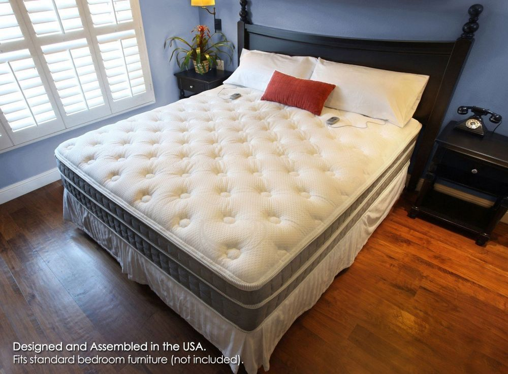 Beautiful King Size Sleep Number Bed With White Cushions