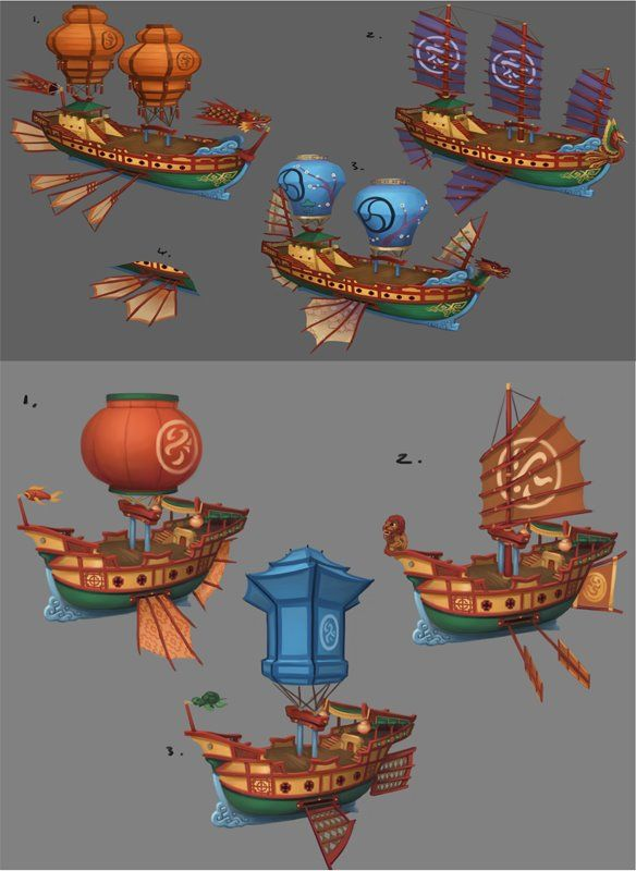 Very Cool Pirate Ship Customization Concept Art Landscape Concept Concept Art Prop Design