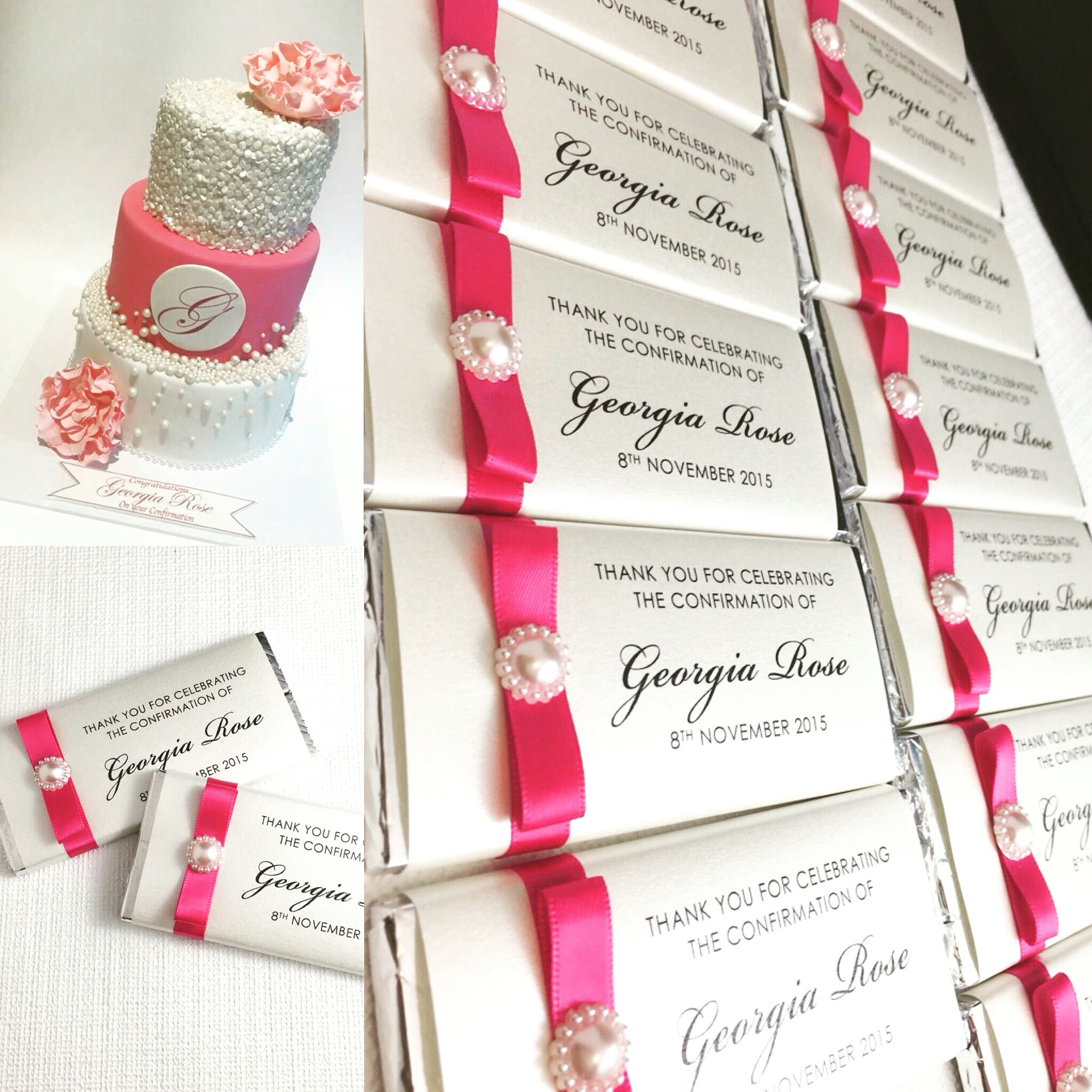 Chocolate Bar Bombonieres In Hot Pink Colour Scheme A Perfect Thank You Gift For Your Lindt ChocolateChocolate BarsWedding FavoursWedding