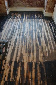 hammer & brush: Sanding a Victorian Pine Floor